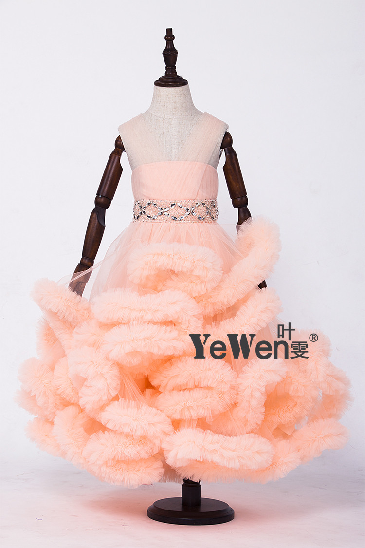 Cloud little flower girls dresses for weddings Baby Party frocks sexy children images Dress kids prom dresses evening gowns 2016 14