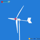 1kw wind turbine generator(small windmill supply small refrigerator,washing machine,water pump)