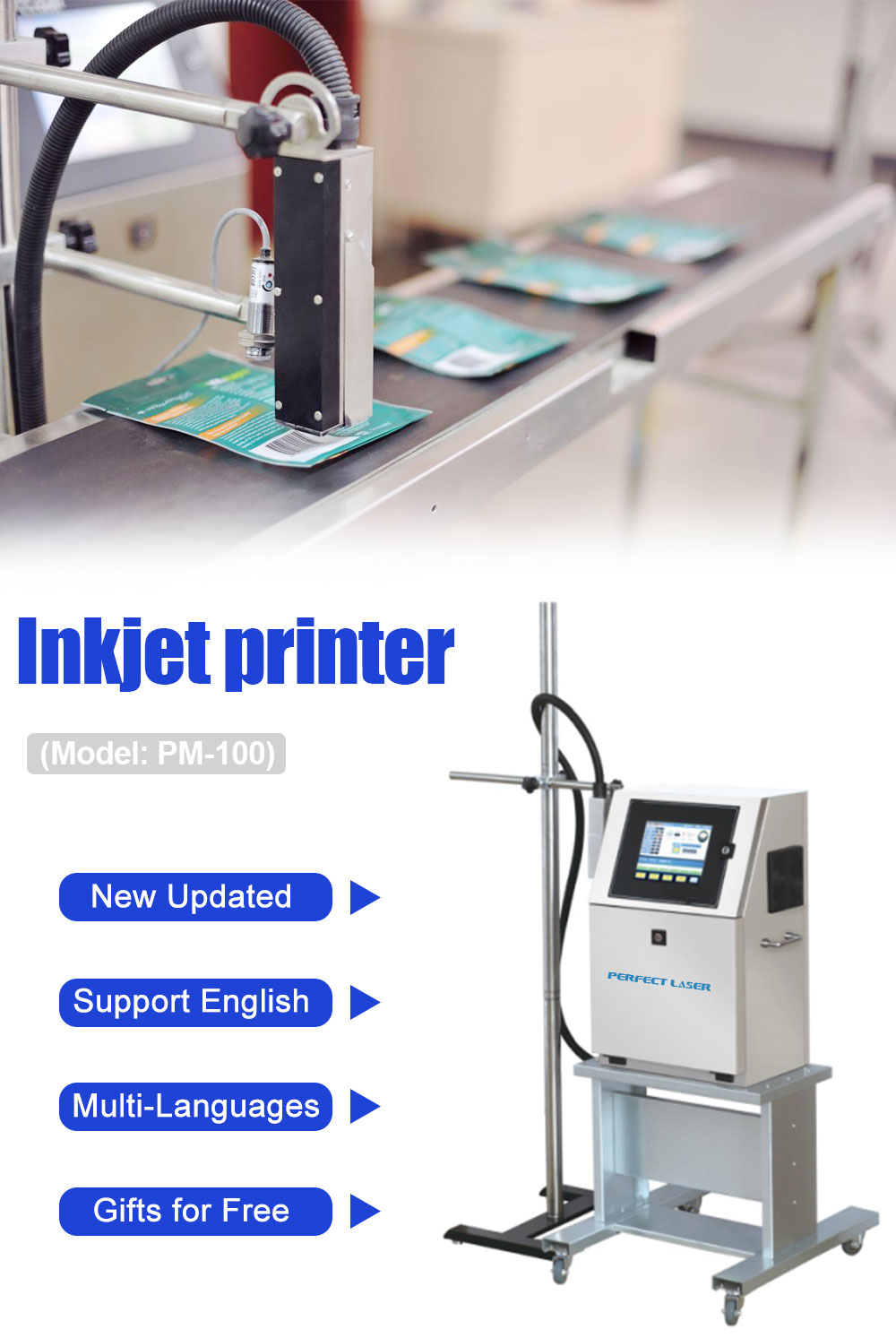 Steel Pipe Handheld Inkjet Printer / Pipe Marking Inkjet / Handheld Portable Ink Jet Coding Machine
