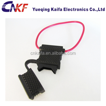 Red Wire Waterproof Auto Fuse Holder Blade Fuse Holder In Line Car Waterproof Auto Fuse Box on