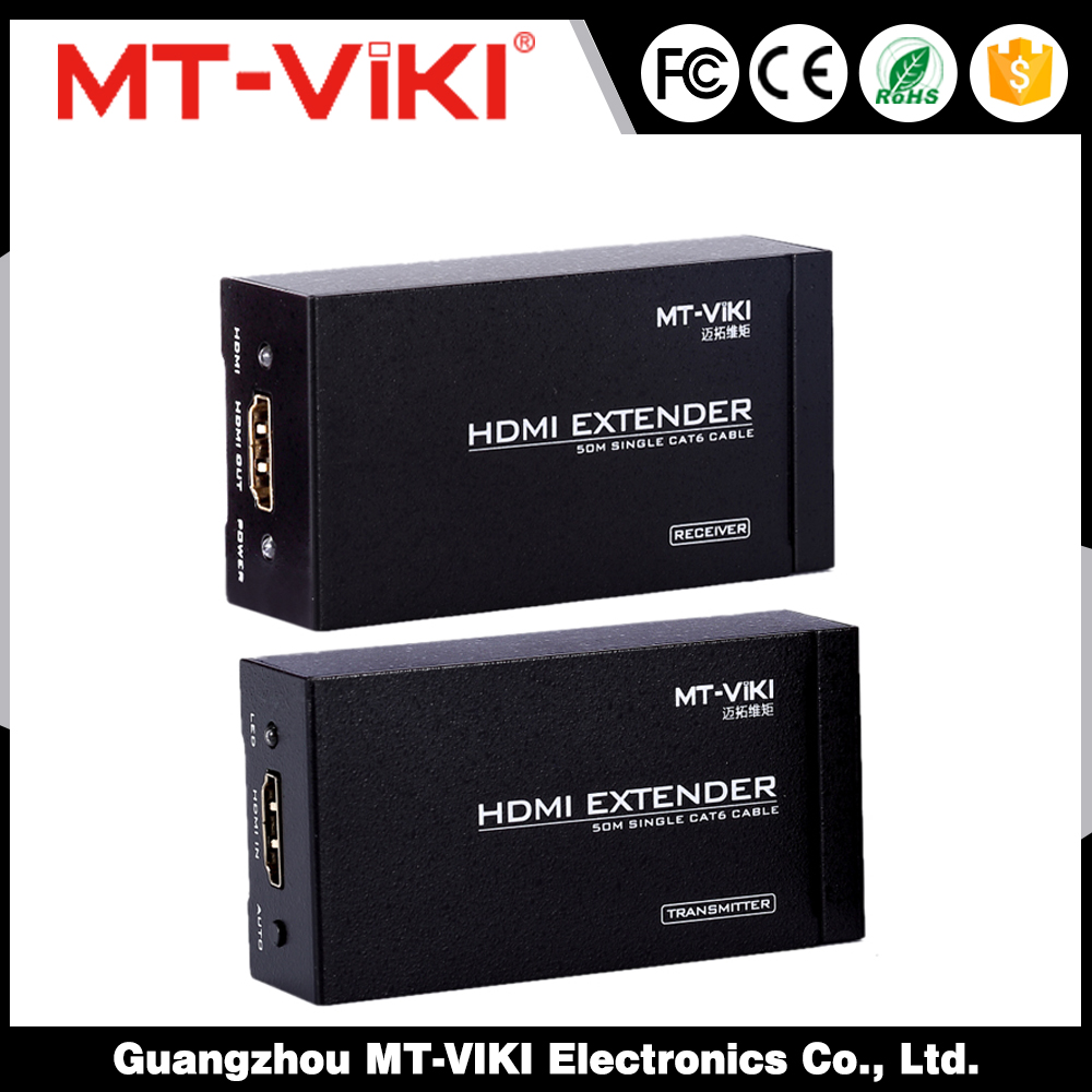 Uses Cat 5e cable to connect the local and remote units 200M Hdmi Extender