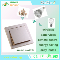 one gang two way similar enocean technology wireless remote control smart switches with Android IOS Phone Remotely controled