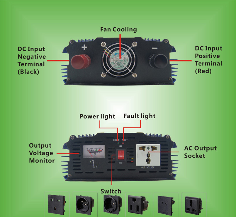 1000w Dc - Ac Pure Sine Wave Power Inverter Circuit Diagram