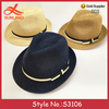 S3106 hot sale unisex summer breathable jazz hats straw fedora for men women
