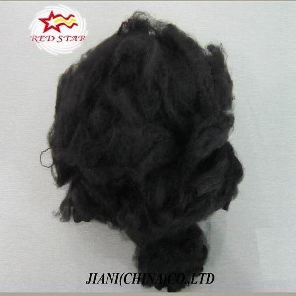 Recycled black silicone pillow filling fibre,polyester chemical fiber,black polyester staple fiber