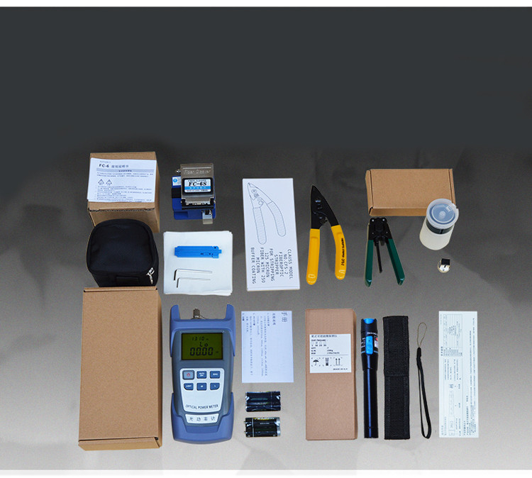 FTTH Fiber Optic Tool Kit for Installing Fast Connector and Fiber Optic Drop Cable