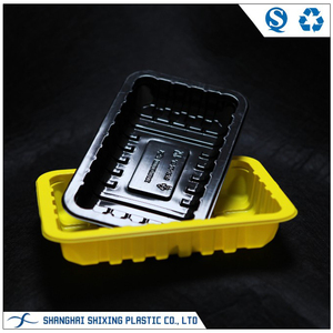 Black Frozen Food Tray PP Microwave Plastic Tray