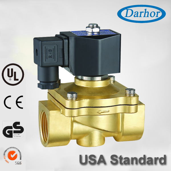 "3/4"",12/24-Volt DC 2W21 Brass Electric Solenoid Valve Water Oil Air <strong>Gas</strong>,NC,NBR/EPDM"