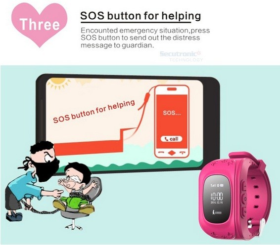 Best gift for children anti-lost SOS SIM card q50 gps kids security watch