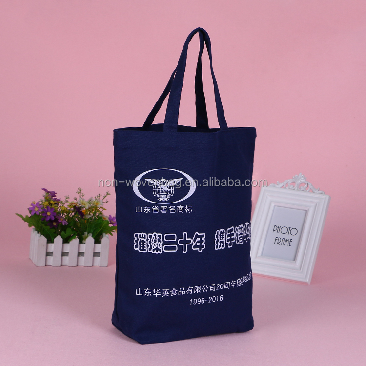 Wholesale colorful recycled 12OZ cotton tote bag promotion bag, Eco reusable shopping bag