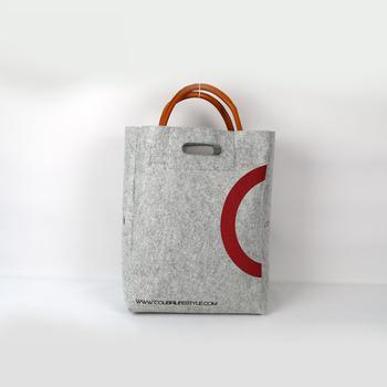 45e47bacaddd new design wholesale eco felt shopping tote bag manufacturer lady fashion  handbag