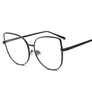 New Sexy Big Cat Eye Glasses Frames For Women Brand Back Silver gold clear fashion glasses MetalFframe Fred Eye Glass Frames