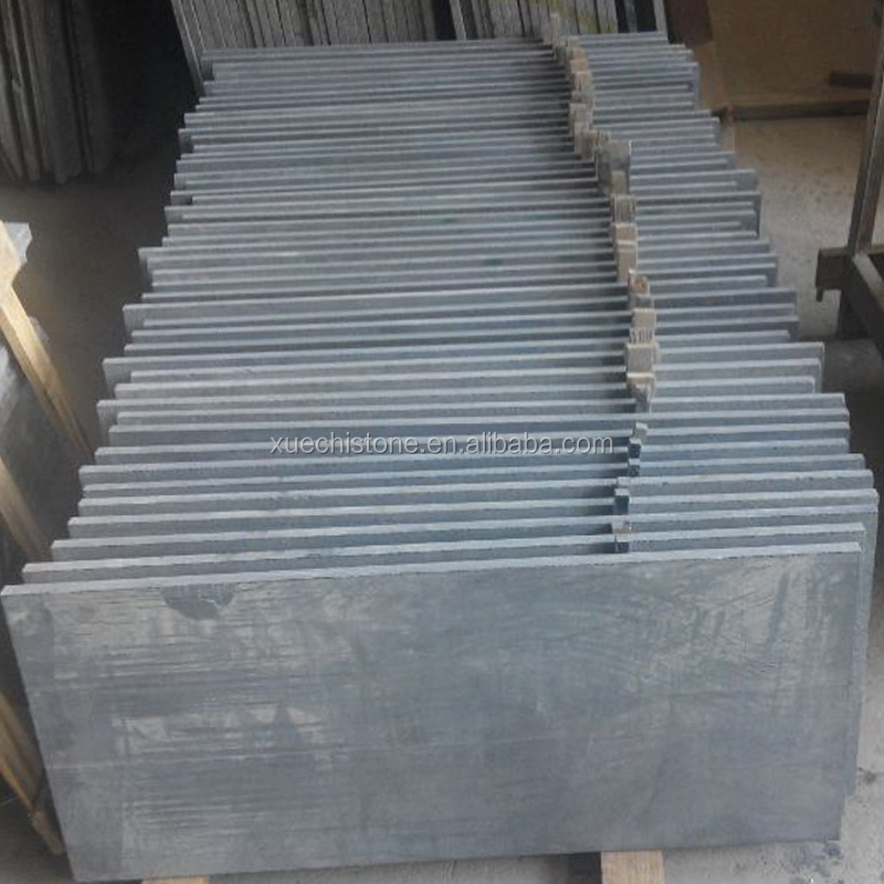 Natural black granite unpolished granite slabs