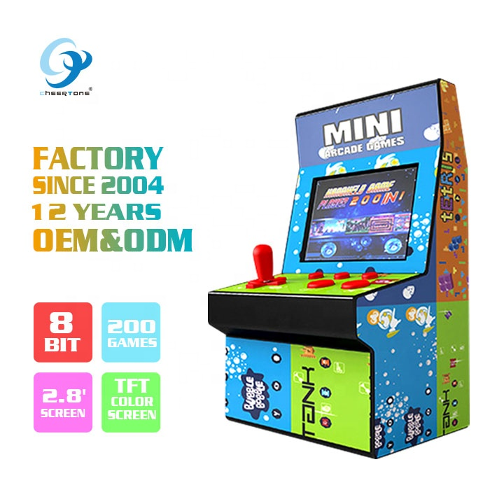 2019 Best Selling 8 Bit Mini Arcade Bartop Machine Kopen Hand Held Handy Handheld Retro Vintage Video Games Gaming Console voor Kid