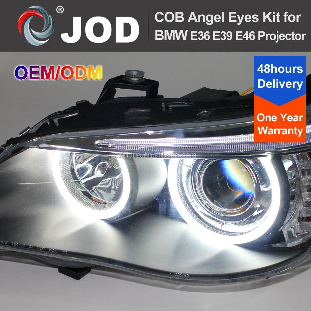 Headlight Cob Led Ring White Car Angel Eyes Light For Bmw E46 ...