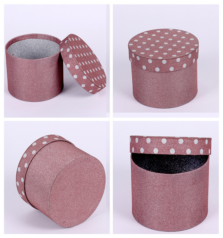 Custom made cardboard round gift box cylinder packaging box