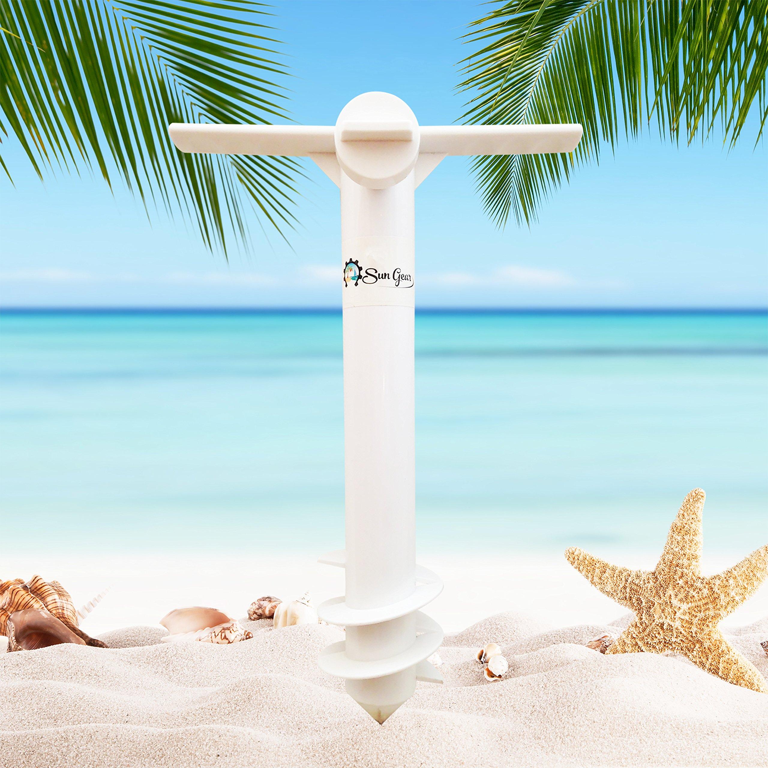Powerfulline Beach Umbrella Sand Anchor Garden Sun Patio Umbrella Holder Parasol Ground Anchor Spike Fishing Stand