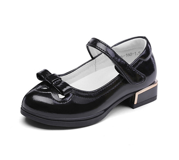 Black children's shoes little gril leather school shoes summer shoes for kid