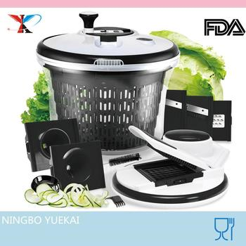multi kitchen helper vegetable slicer cutter salad spinner set
