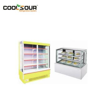 COOLSOUR Commercial Supermarket Refrigerated Vertical Open Showcase