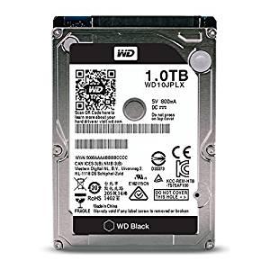 WD Black 1TB Performance Mobile Hard Disk Drive - 7200 RPM SATA 6 Gb/s 32MB Cache 9.5 MM 2.5 Inch - WD10JPLX