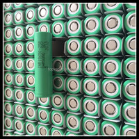 100PCS 2500 MAH INR 3.7V 18650 Li-ion rechargeable battery cell for SAMSUNG 25R5 20A