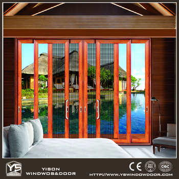 Main entrance design exterior aluminium glass sliding door for Sliding door main entrance