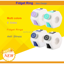 New Design Anti Stress Silicone Toy Fidget Ring Spinner