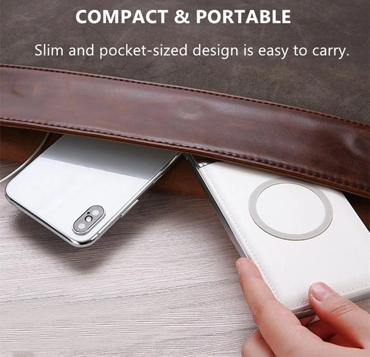 Christmas Gift Dual USB Portable Mobile Charger Power Bank for iPhone X 10000mAh LED Display 2 in 1 Qi Wireless Power Bank