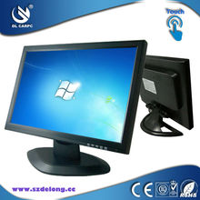 19 inch vga widescreen led touch flat monitor with av