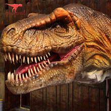 Theme park dinosaur head animatronic mask for sale