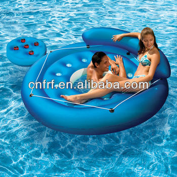 pool water with float. Perfect Water Inflatable Island Float Lounge Relaxing Pool Water Toy In Pool Water With M