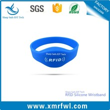Charm design silicone rfid wristband for sport events