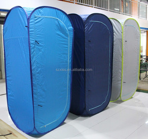customized logo travel equipment of lightweight pop up shower tent