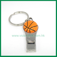 Custom metal ball mini basketball keychain