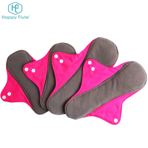 Happyflute sanitary napkin reusable Menstrual cloth Sanitary Pads for Women