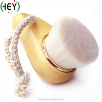 Natural wooden handle deep pore cleansing silicone cleaning face brush