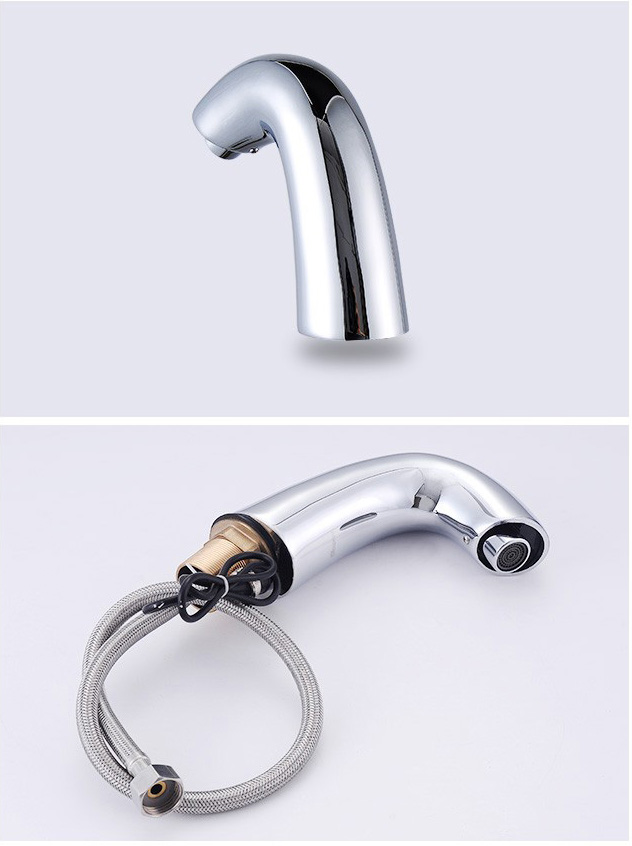 Automatic machine hot and cold tap toilet bass basin faucet