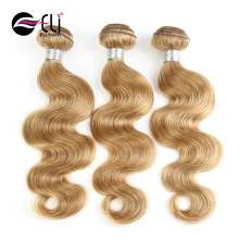 7A Colored 27# Honey Blonde Brazilian Hair Weave Accept Paypal Pure Natural Color 10 To 26 Inch