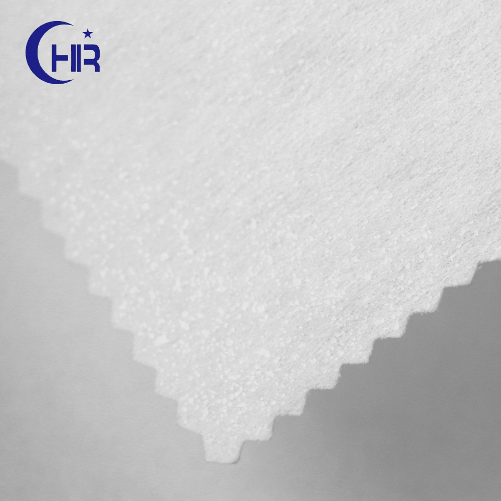 100% polyester nonwoven interlining fabric/Short Fiber Polyester Nonwoven