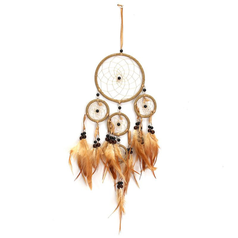 Folk Art Wind Chimes Decoration Feather Dreamcatcher Indian Style Wall Hanging Gifts Living Room Decoration Craft Gifts