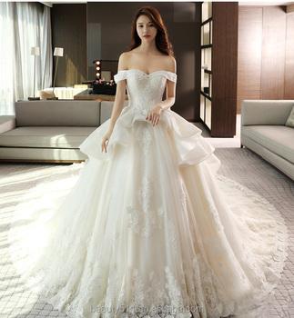 Off Shoulder Empire Wedding Dress