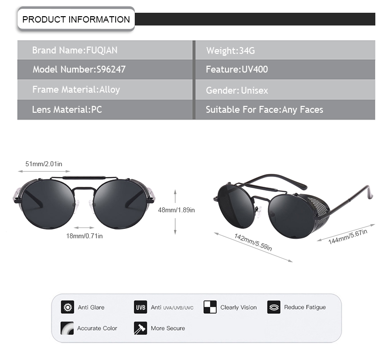 Fuqian womens stylish sunglasses company-9