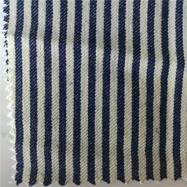 Hot sale stretch stripe jacquard denim fabric