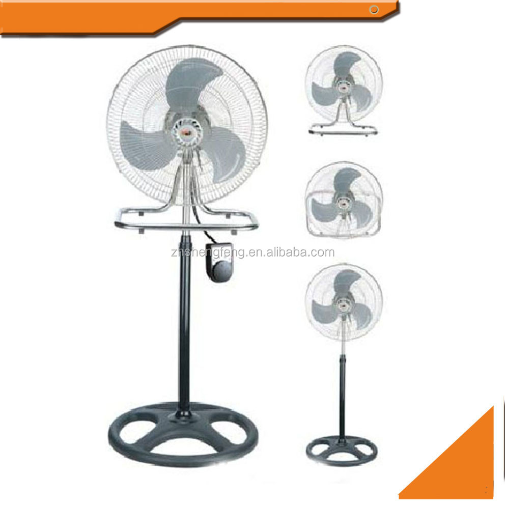 "16"" inch 3 in 1 industrial metal electric stand fan"
