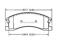 D945 OE No5093183AA for JEEP Chrysler front replacing brake pads