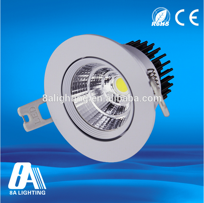 Latest design 3000k Ra80 cob led light 9w dimmable white blue led downlight
