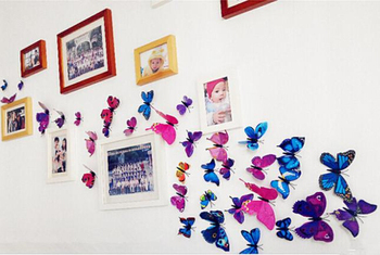 Free Shipping Home Decor Wall Stickers D Pvc Butterfly Stick On - Butterfly wall decals 3d