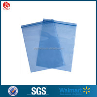 high quality PE Two Side Seal zip lock Pouch Flat small blue / red plastic packaging bags
