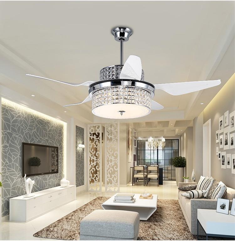 Achetez En Gros Ventilateurs De Plafond Lustre Moderne En